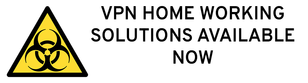 Work from home using or VPN systems